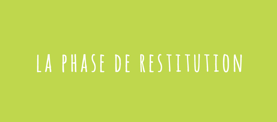 La phase de restitution